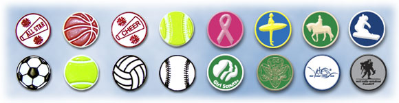 Fund Raising Sports PVC Buttons