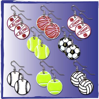 Sports PVC Earrings