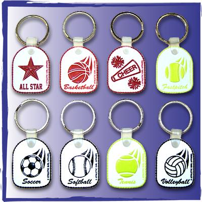 Sports Keychains with Split Ring
