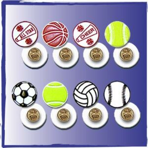 Sports Lapel Pins made of PVC