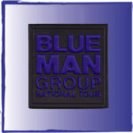Copy of Blue Man Group pvc label for bags