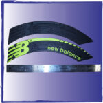 New balance tire trea label for trade show