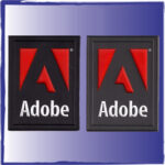 Adobe pvc labels for sewing onto bags