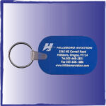 Silkscreen front keychain