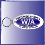 Silkscreen keychain Western Jet Aviation