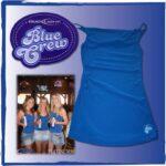 Blue Crew Shirt with pvc label