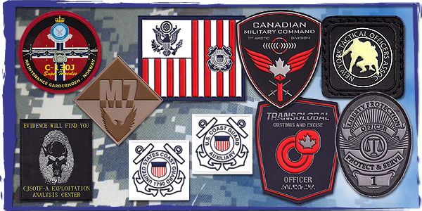 USA Made Soft PVC Morale Patches and Law Enforcement Badges