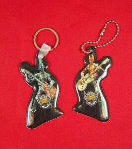 Guitar Hero Domed Key Chains