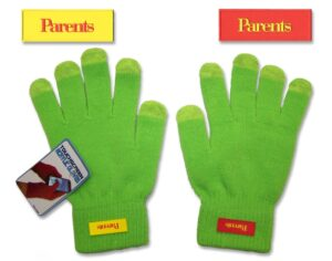 PVC label glove decoration