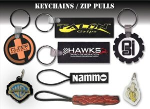 custom 2D zip pulls