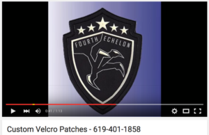 Click to watch our YouTube video with information on Custom Patches with VELCRO® brand fasteners
