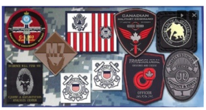 Custom Patches with VELCRO® brand fasteners Made in USA