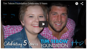 Tim Tebow's Foundation Inspirational Birthday Video