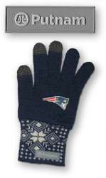 Made in USA parts for 3D sew on patch of logo and New England Patriots slogan.