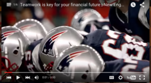 Watch Putnam Investments partnership with New England Patriots commercials.
