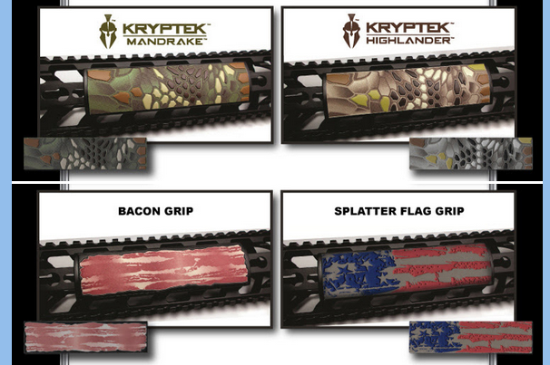 Custom Labels for Gun Rail Parts Difficult to Decorate