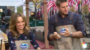 Watch this clip from the Today Show with Chefs Curtis Stone and Giada wearing waders with the Ocean Spray logo 2d patches made by Flexsystems USA.